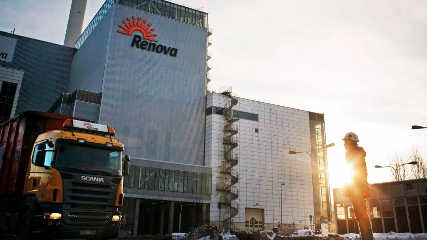 Renova utiliza camiones de basura híbridos diésel para recolectar residuos en la zona de Gotemburgo.