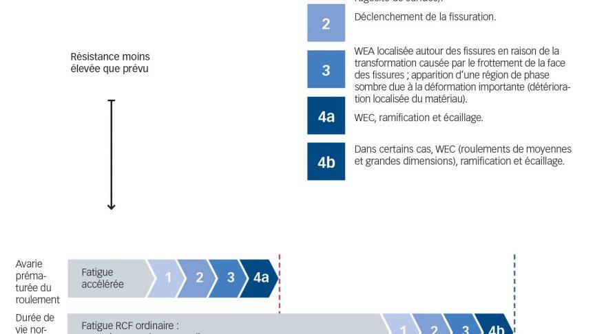 Chaîne simplifiée des événements conduisant à l'apparition d'une fissuration WEC.