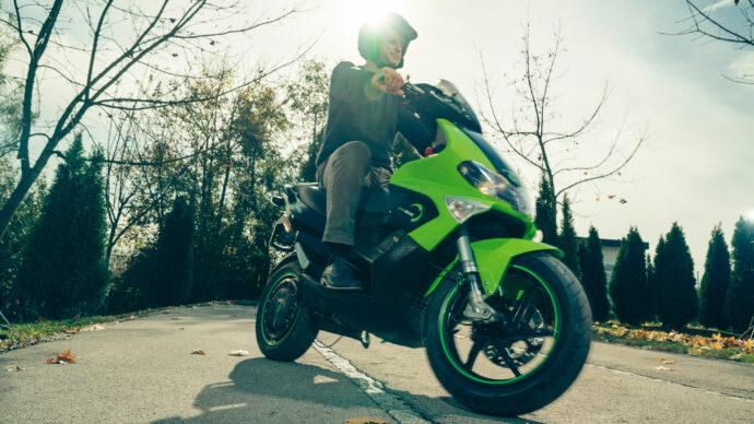Motorbike with GEM in-wheel electric motor