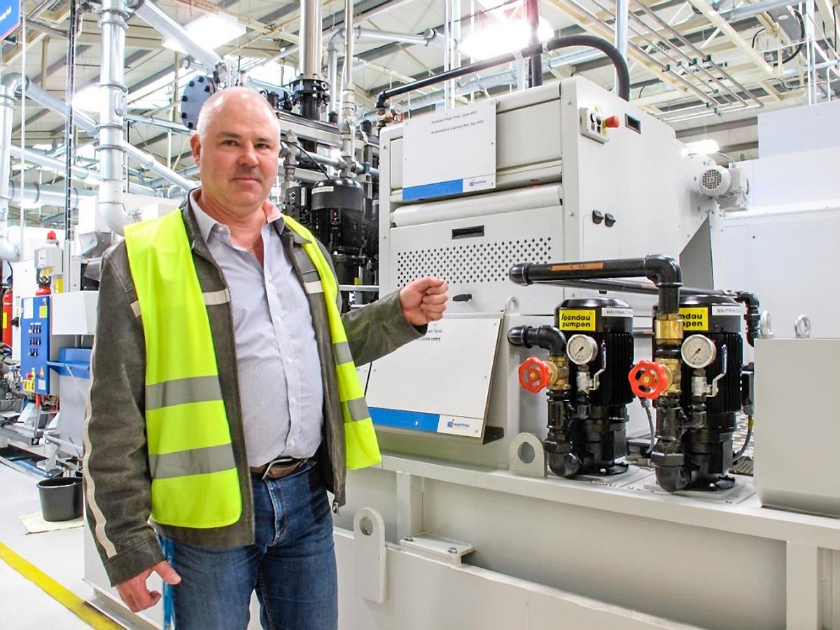 """工厂经理Martin Zverina说:""""该系统的能耗仅为单站系统的40%。"""""""