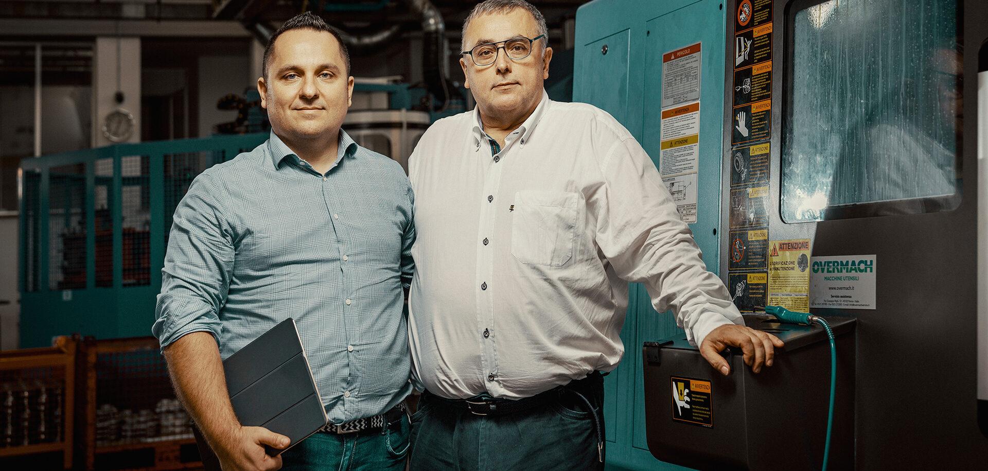 Alessandro Benevelli (sinistra), direttore commerciale, e Alberto Benevelli, CEO, Benevelli S.r.l.