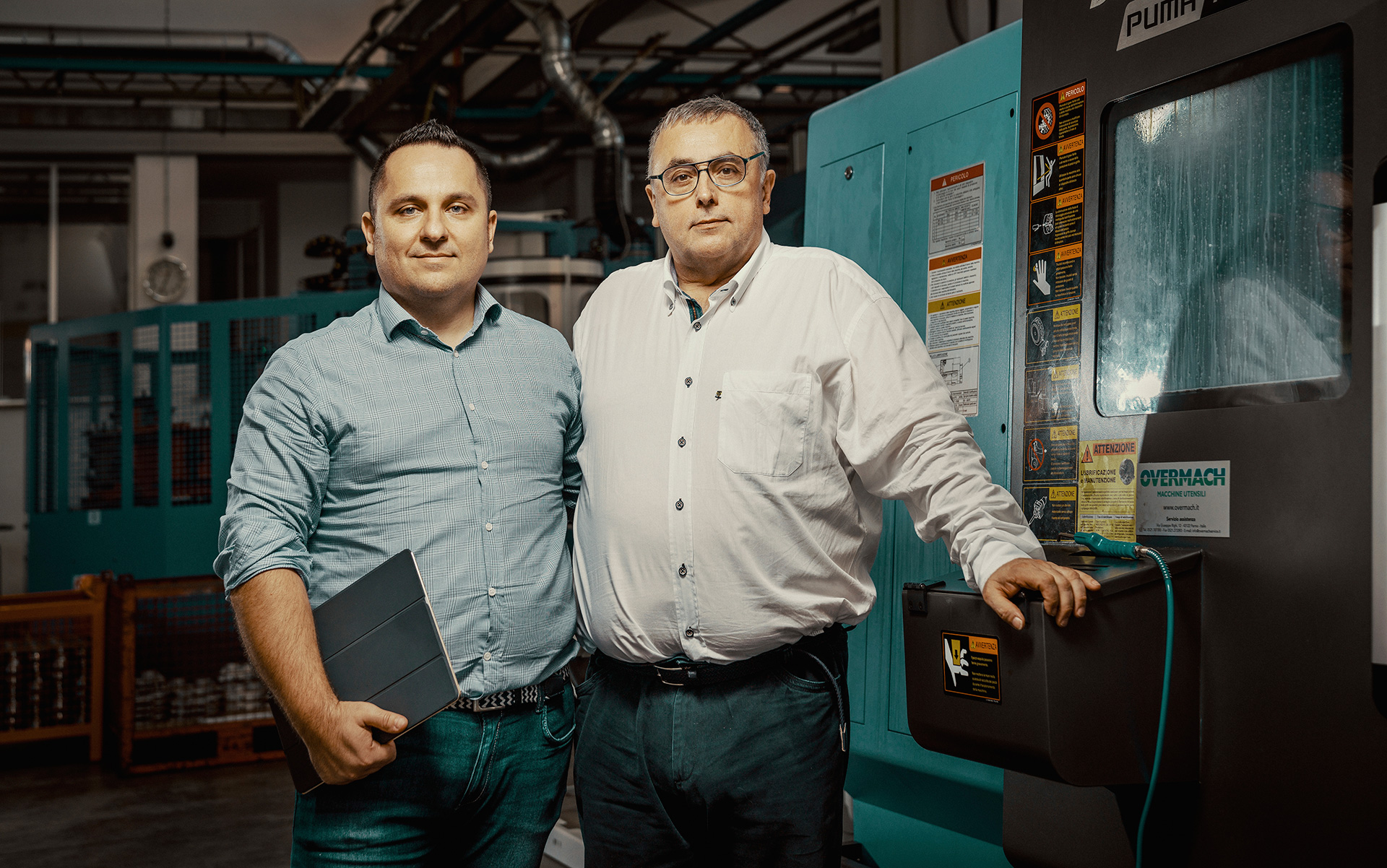 Alessandro Benevelli (à gauche), directeur commercial, et son frère Alberto, PDG de Benevelli.