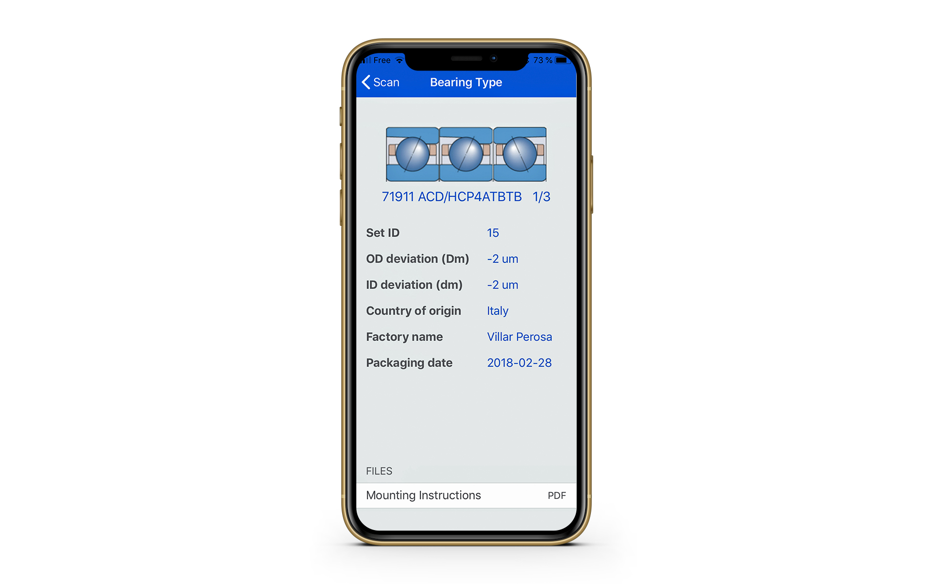 Nuova app per la tracciabilità dei cuscinetti