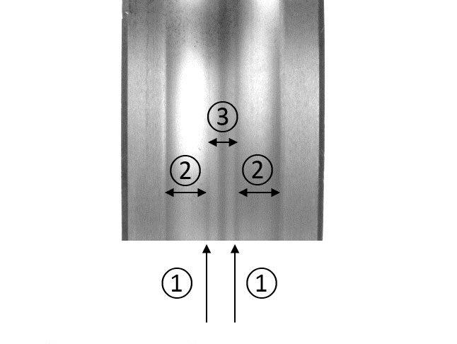 Fig 4b: Influenza della deformazione elastica sull'anello interno di un cuscinetto radiale a sfere.