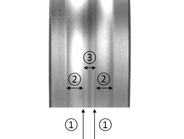 Рис 4b: Влияние упругой деформации на внутреннее кольцо радиального шарикоподшипника.
