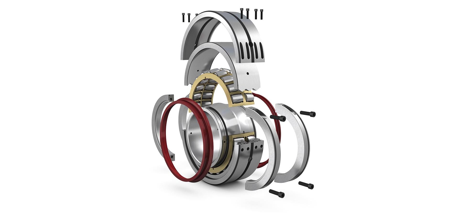 Replacement benefits with split spherical roller bearings