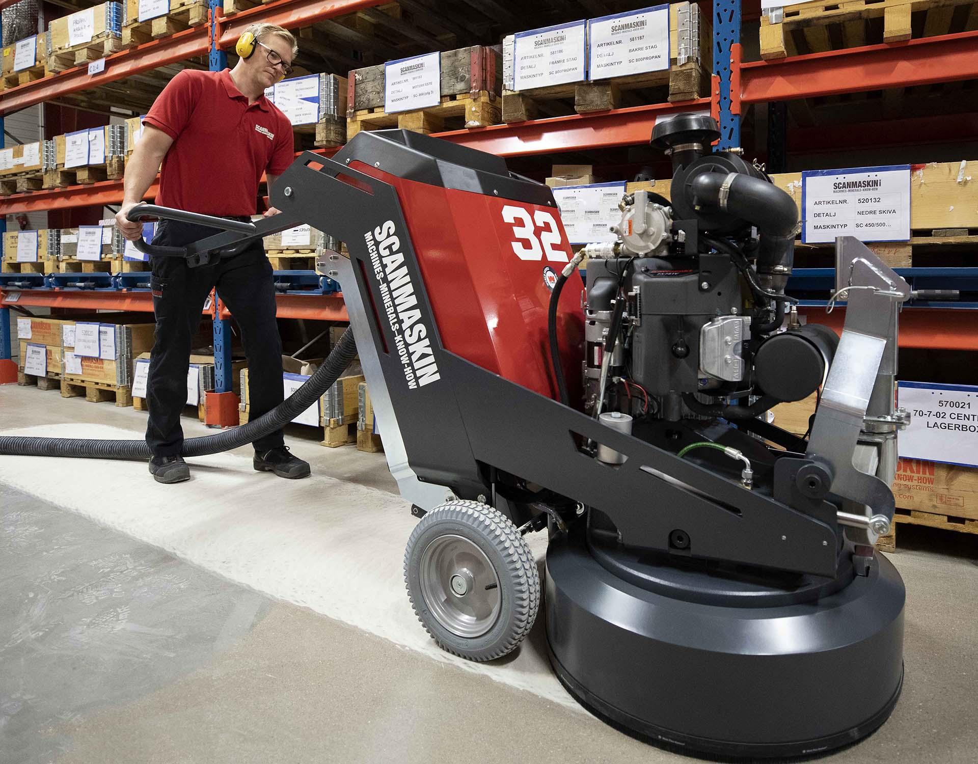 Solución de sellado para pulidoras de pavimentos de uso profesional