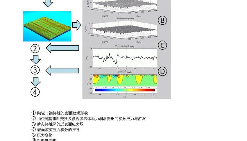 图5:用于表面疲劳应力损伤评估的高级微观EHL示意流程图。