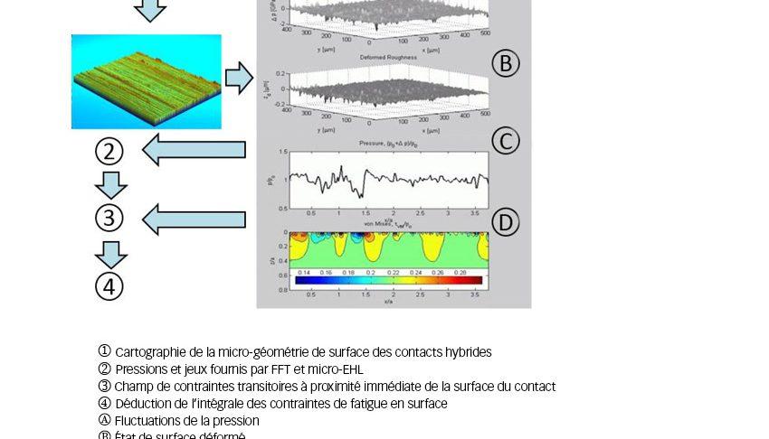 Fig. 5. Schéma de l'évaluation des dommages par fatigue en surface basée sur le régime micro-EHL.