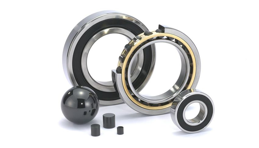 Hybrid ball and roller bearings