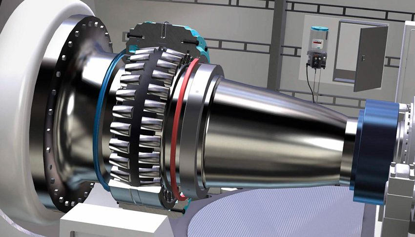 Spherical roller bearing, specifically optimized for wind turbine applications.