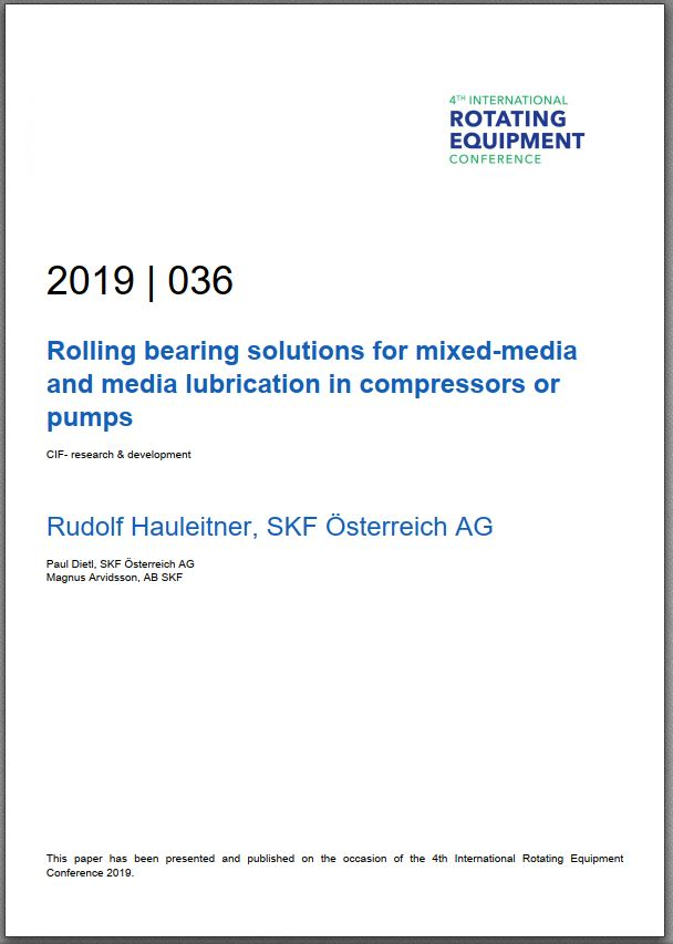 Paper: Rolling bearing solutions for mixed-media and media lubrication in compressors or pumps