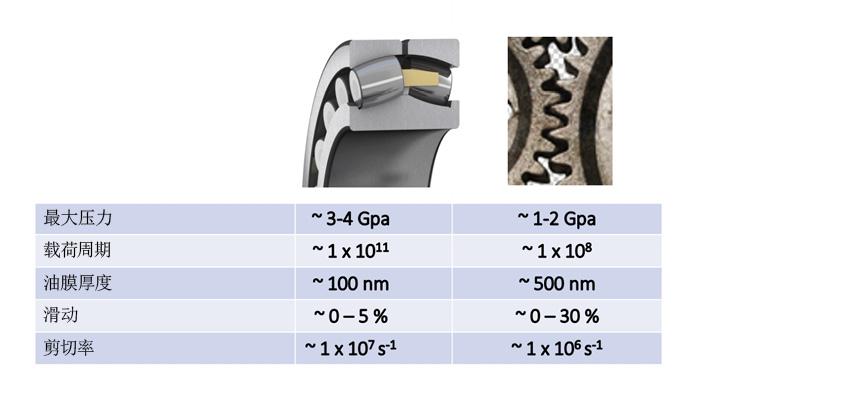 滚动轴承和齿轮付中典型接触状况比较