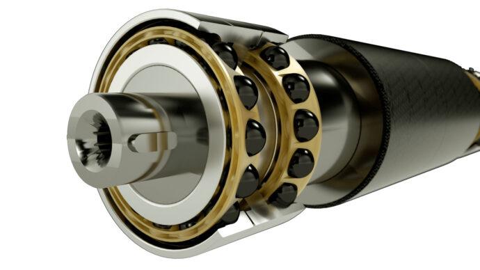 Hybrid bearings in chiller application